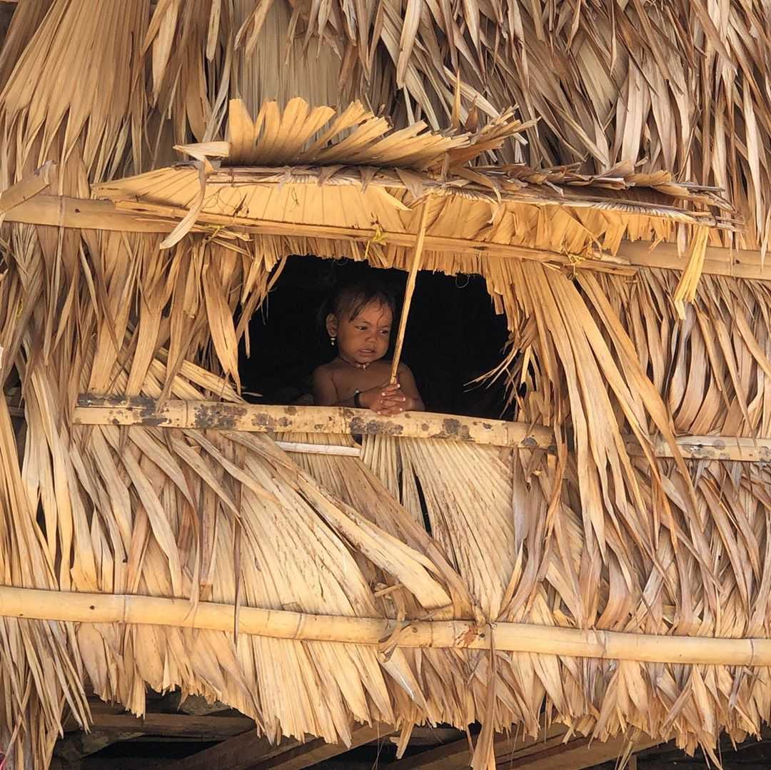 Child from a hut of the Moken on the Surin Islands
