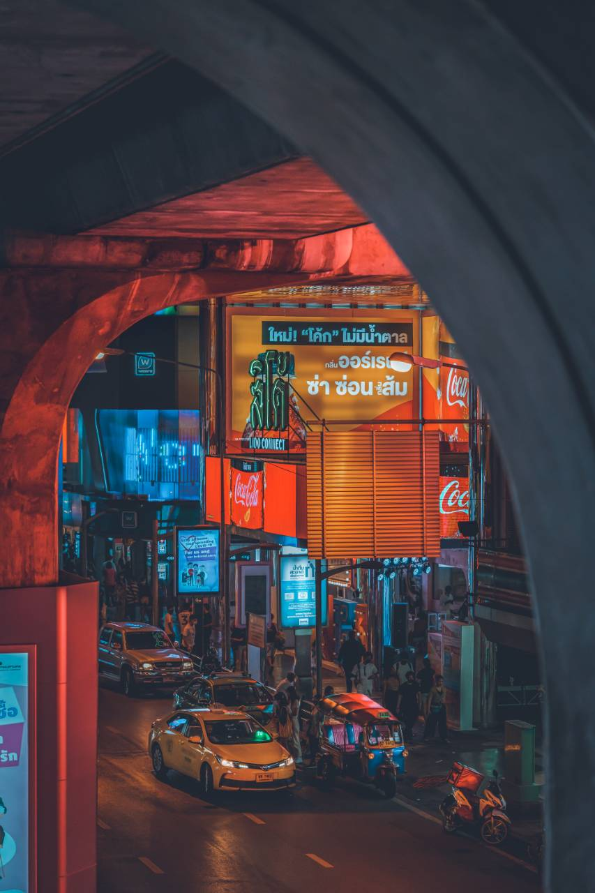 Neon lighst at Siam Square in Bangkok