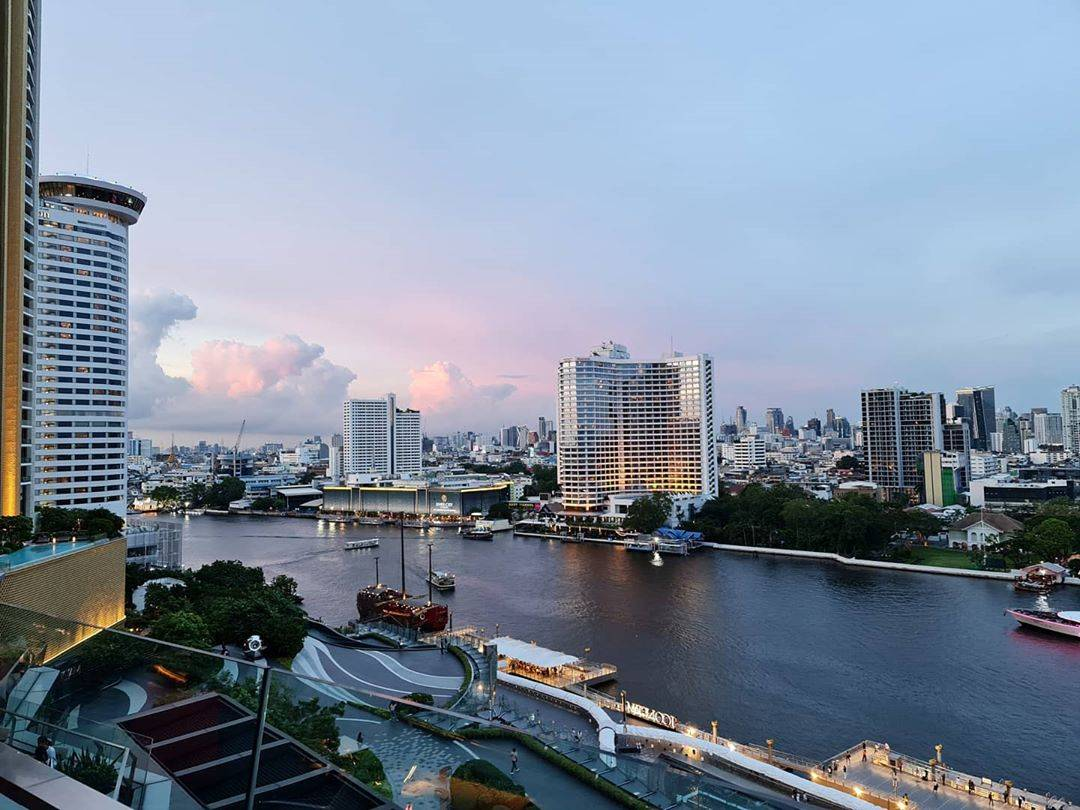 View from the Tasana Nakorn Terrace of ICONSIAM over Bangkok's skyline