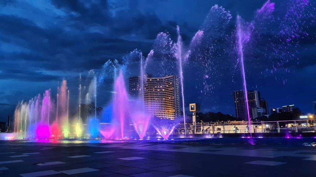 The largest water fountain of Southeast Asia at ICONSIAM in Bangkok