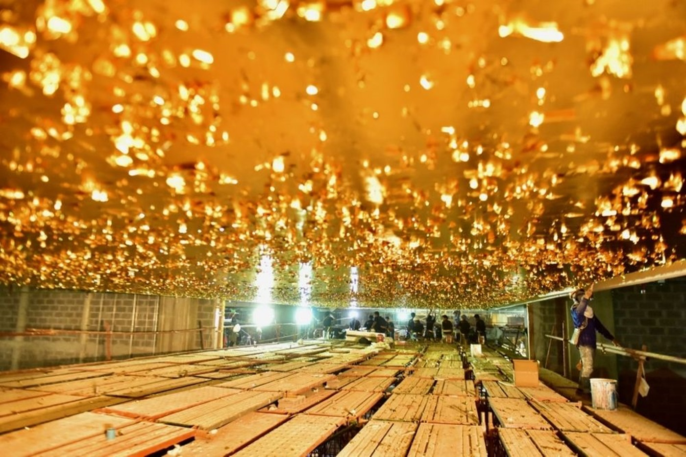 Gold leaf ceiling in ICONLUXE / ICONSIAM, Bangkok