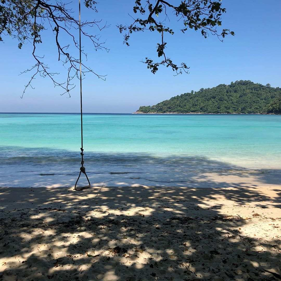 Swing on the beach of the Surin Islands