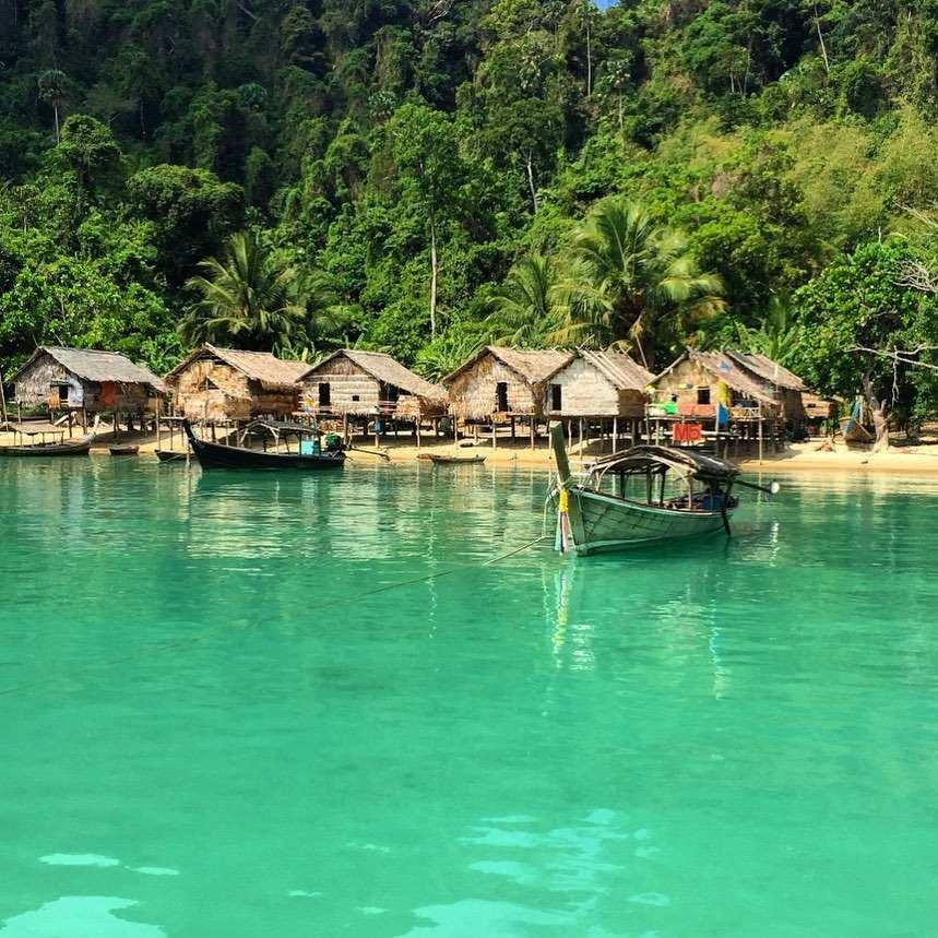 Moken Village on the Surin Islands in Thailand