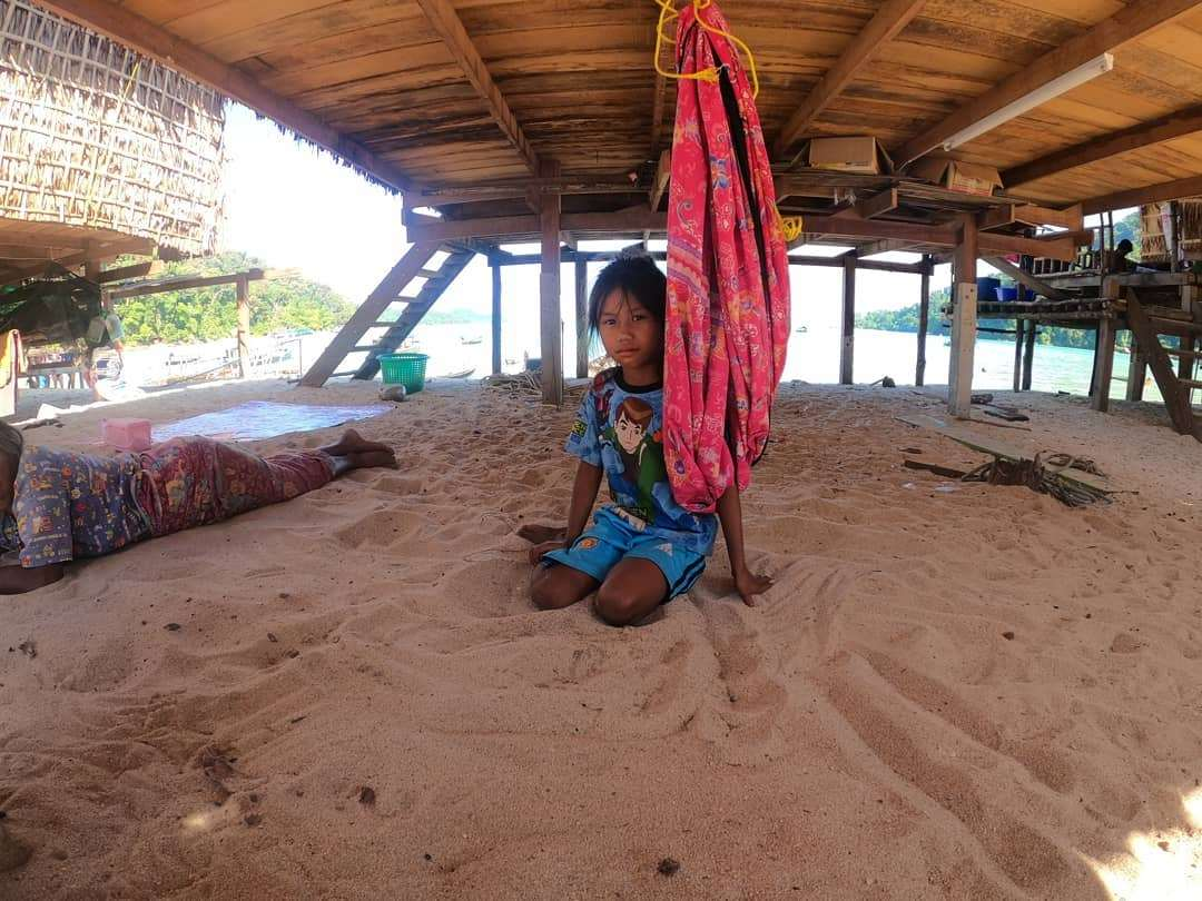 Resident of the Moken Village on the Surin Islands in Thailand.