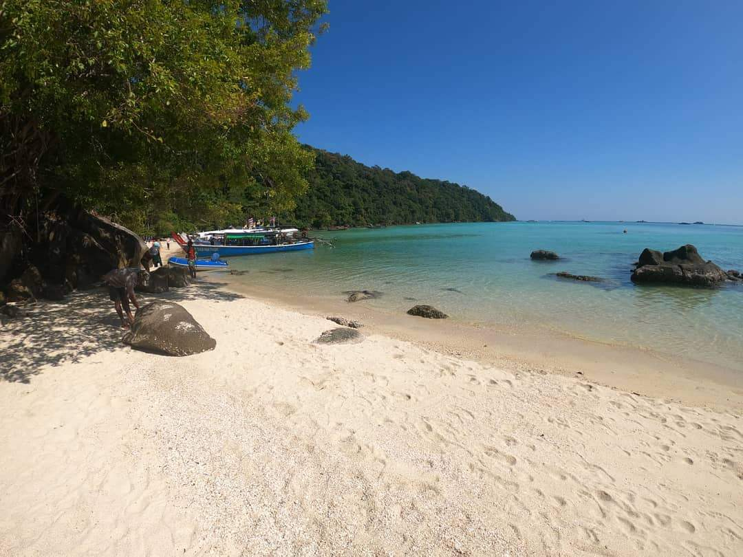 The beautiful coast of the Surin Islands in Thailand