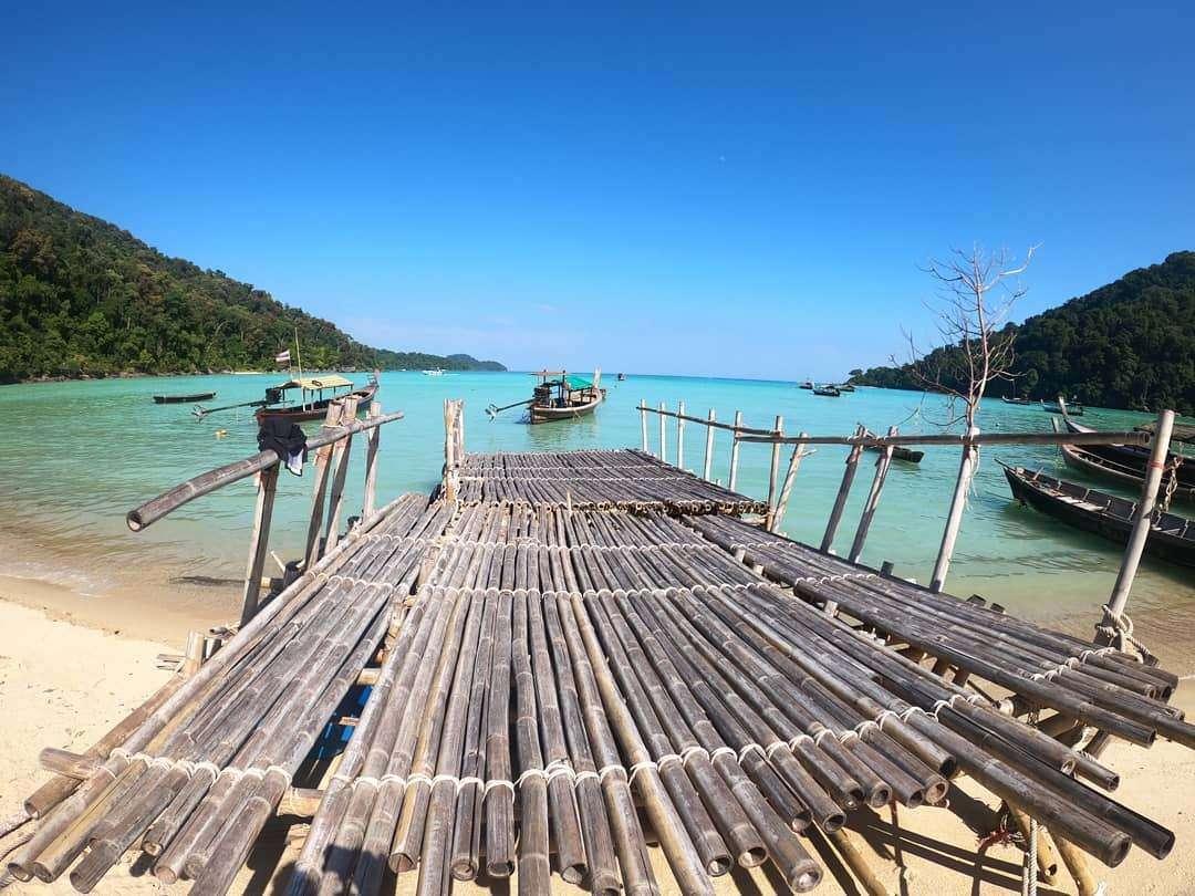 Pier on the Surin Islands