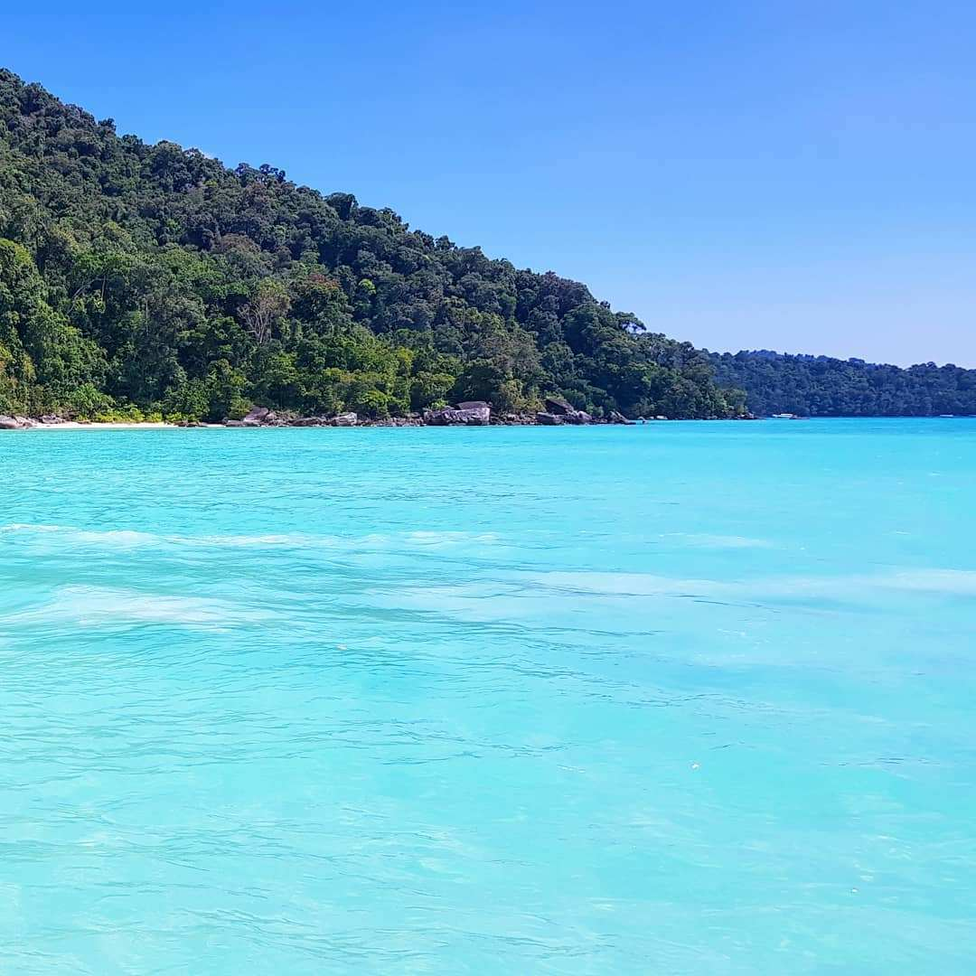 The beautiful blue sea of the Surin Islands