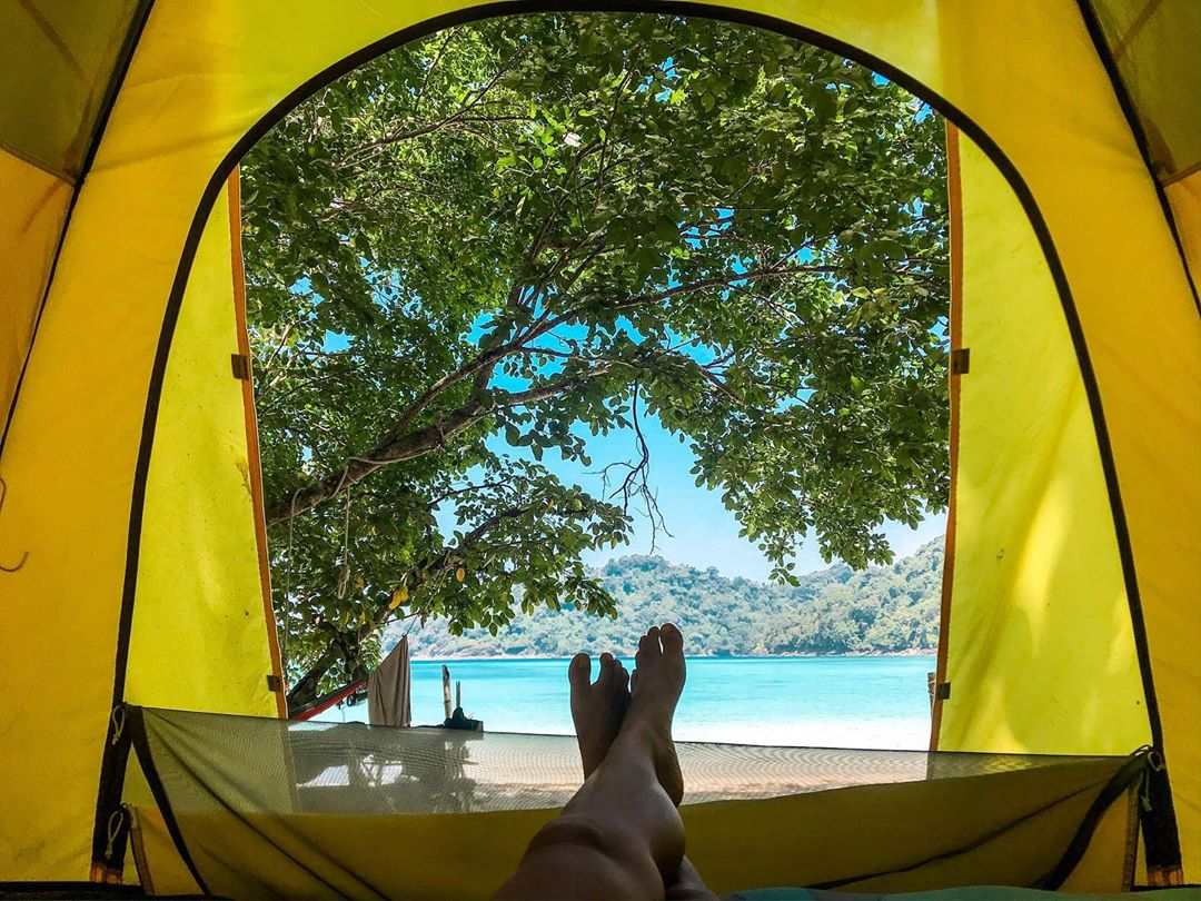 Camping on the Surin Islands