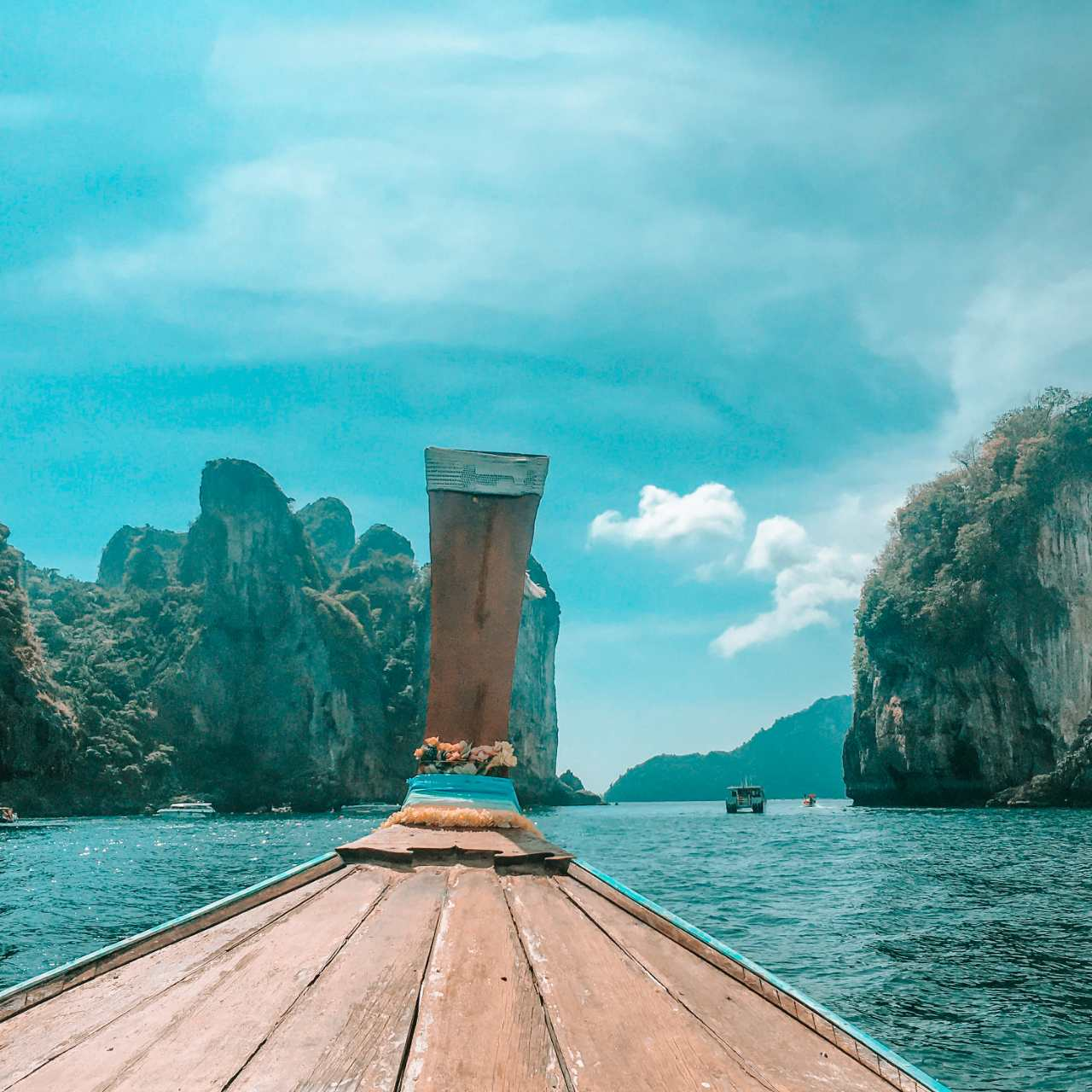Sailing on a Longtail boat at Koh Phi Phi