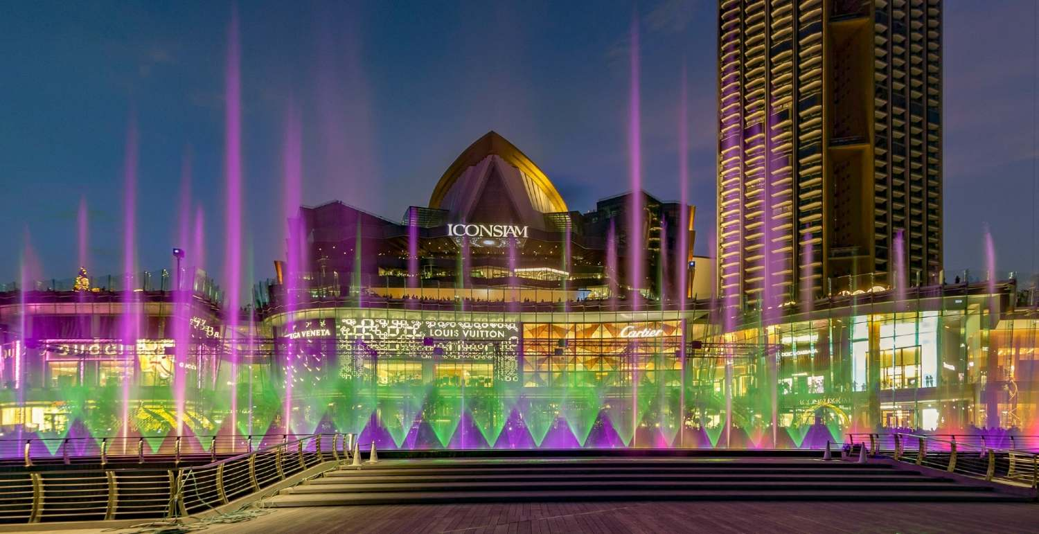 The ICONIC Multimedia Water Features of Ghesa at ICONSIAM in Bangkok