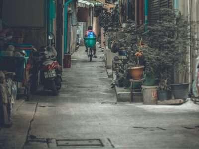 Stil Op Straat In De China Town Buurt Van Bangkok