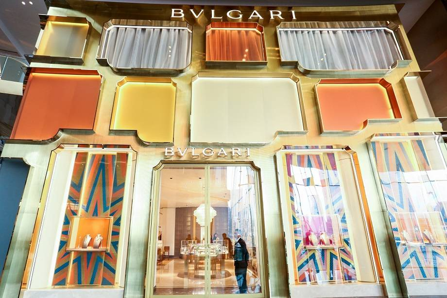 Facade of BVLGARI in ICONLUXE / ICONSIAM in Bangkok