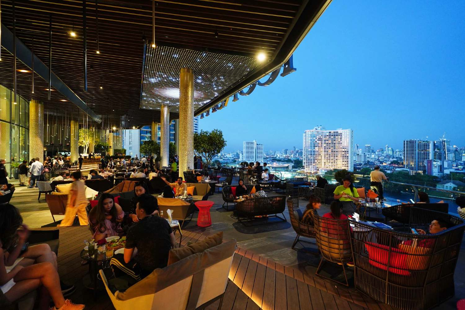 The Tasana Nakorn terrace on the sixth floor of ICONSIAM