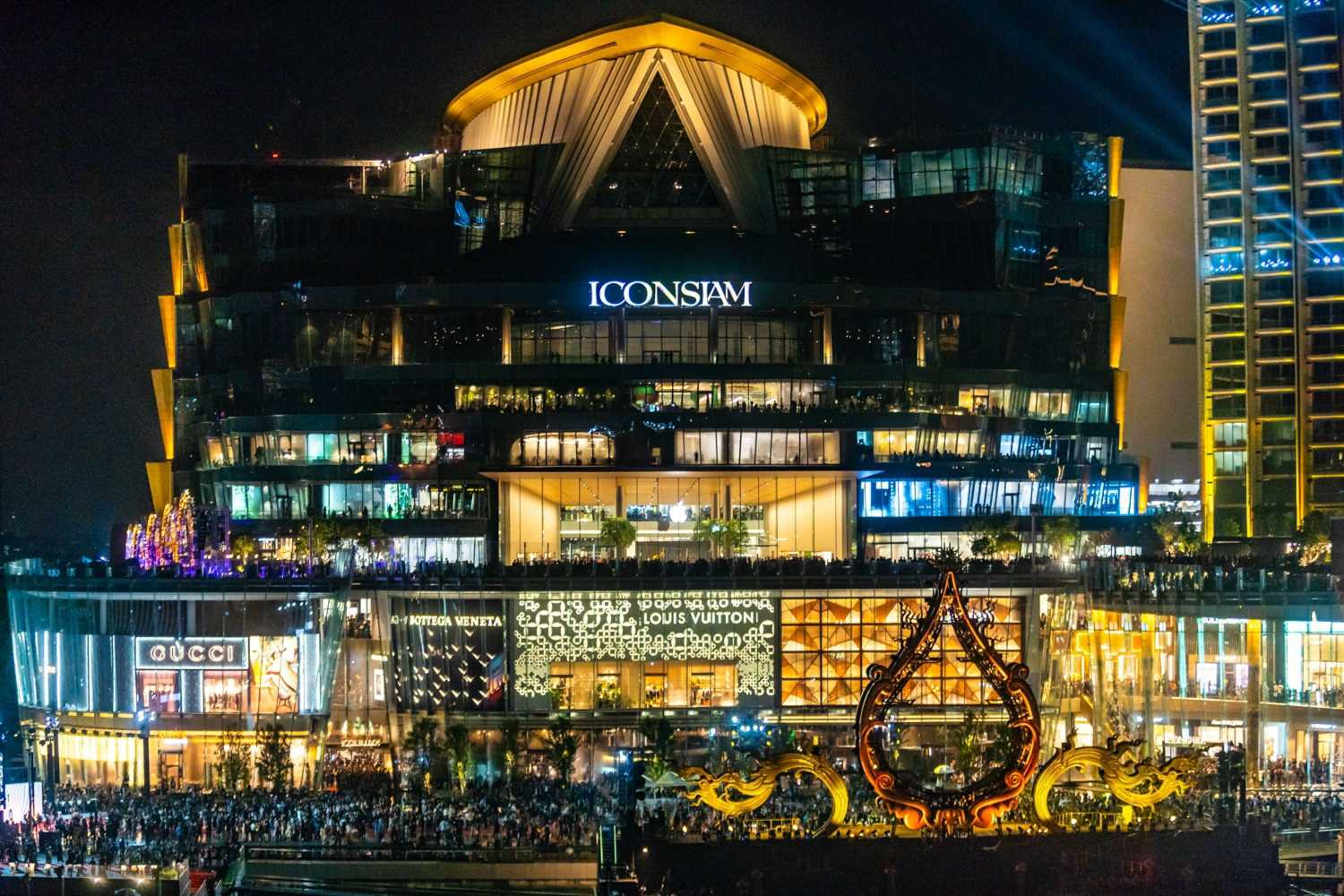 Het anderhalf miljard euro kostende project ICONSIAM in Bangkok