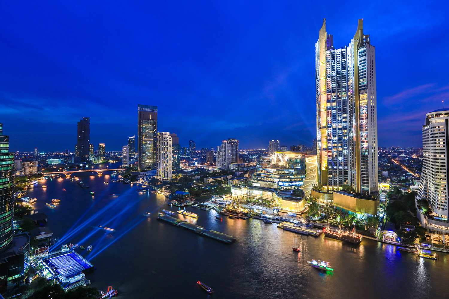 ICONSIAM on the banks of the Chao Phraya River in Bangkok