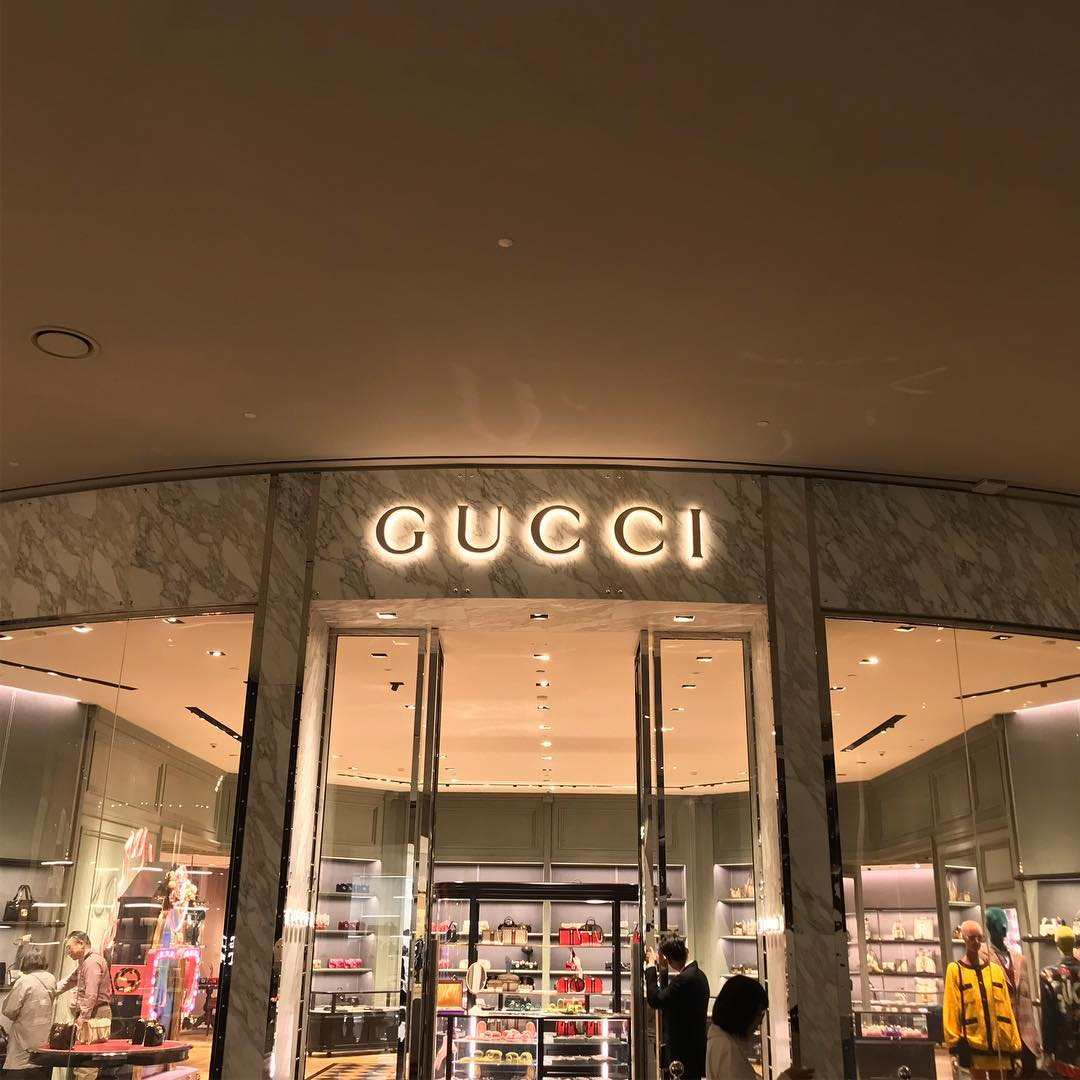 Facade of Gucci in ICONLUXE / ICONSIAM in Bangkok
