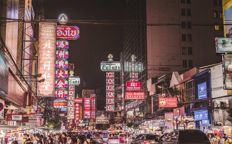 Yaowarat Road in China Town during the night