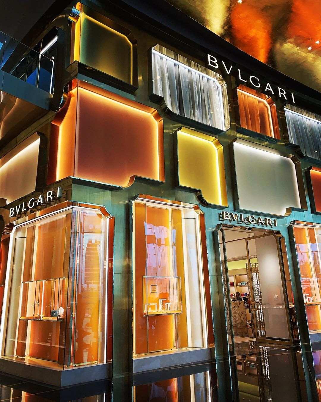 De etalage van Bvlgari in ICONSIAM, Bangkok