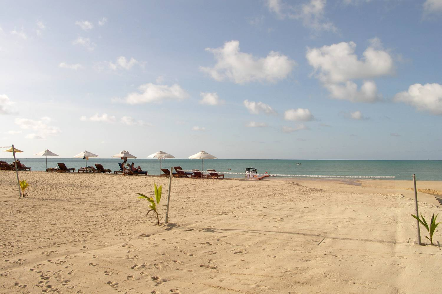 Loungers on White Sand Beach, Khao Lacquer
