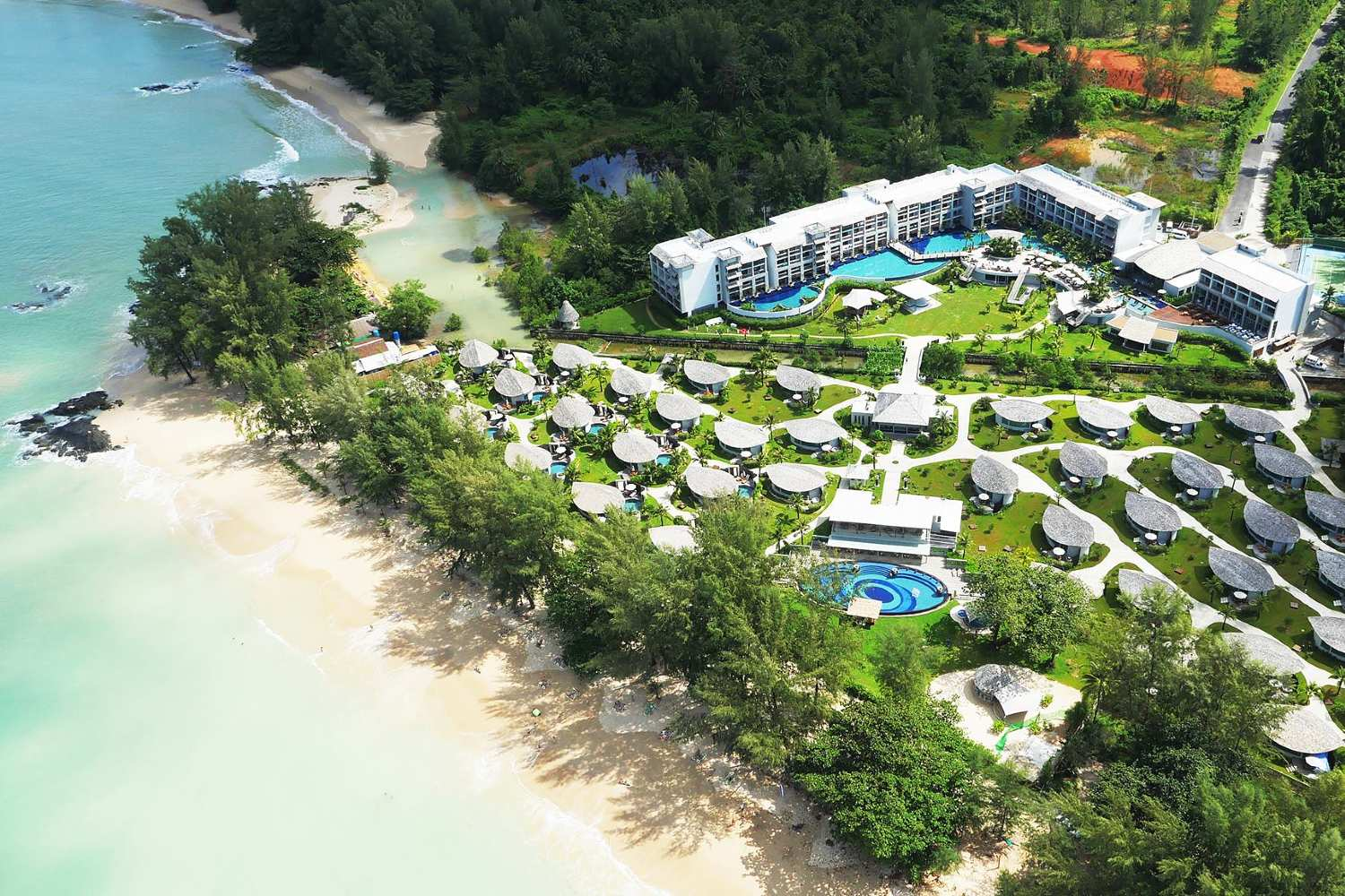 Aerial photo of the Mai Khaolak Beach Resort & Spa