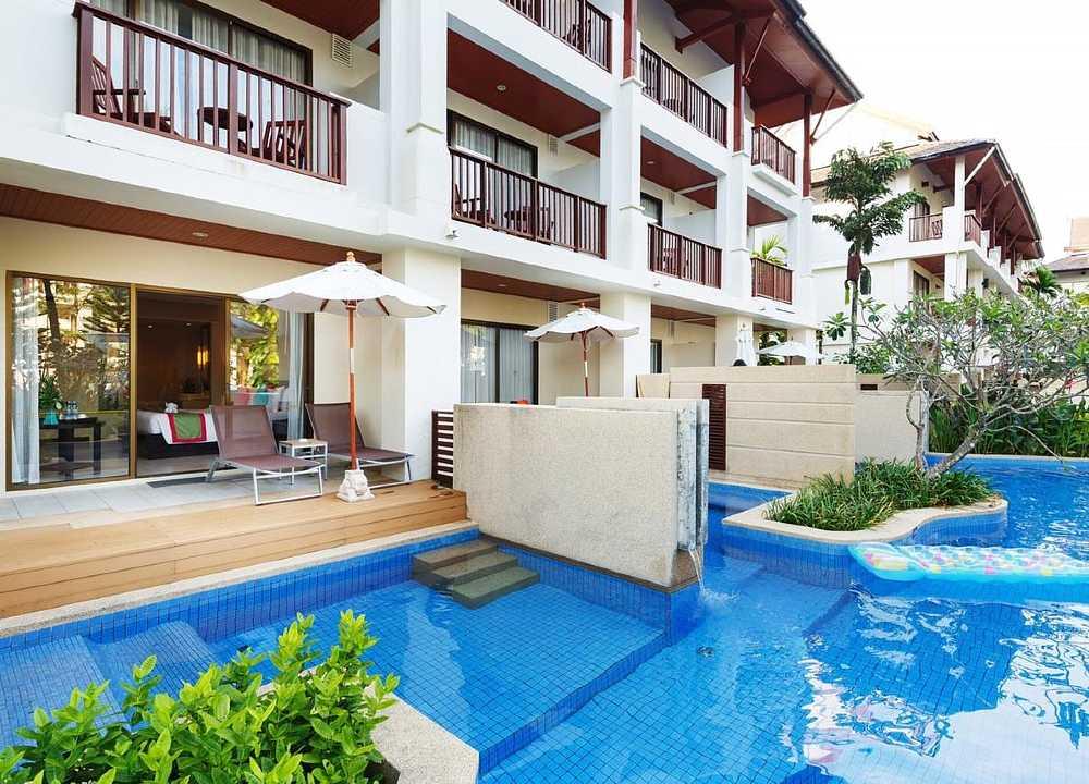 Hotelkamer met toegang tot het zwembad