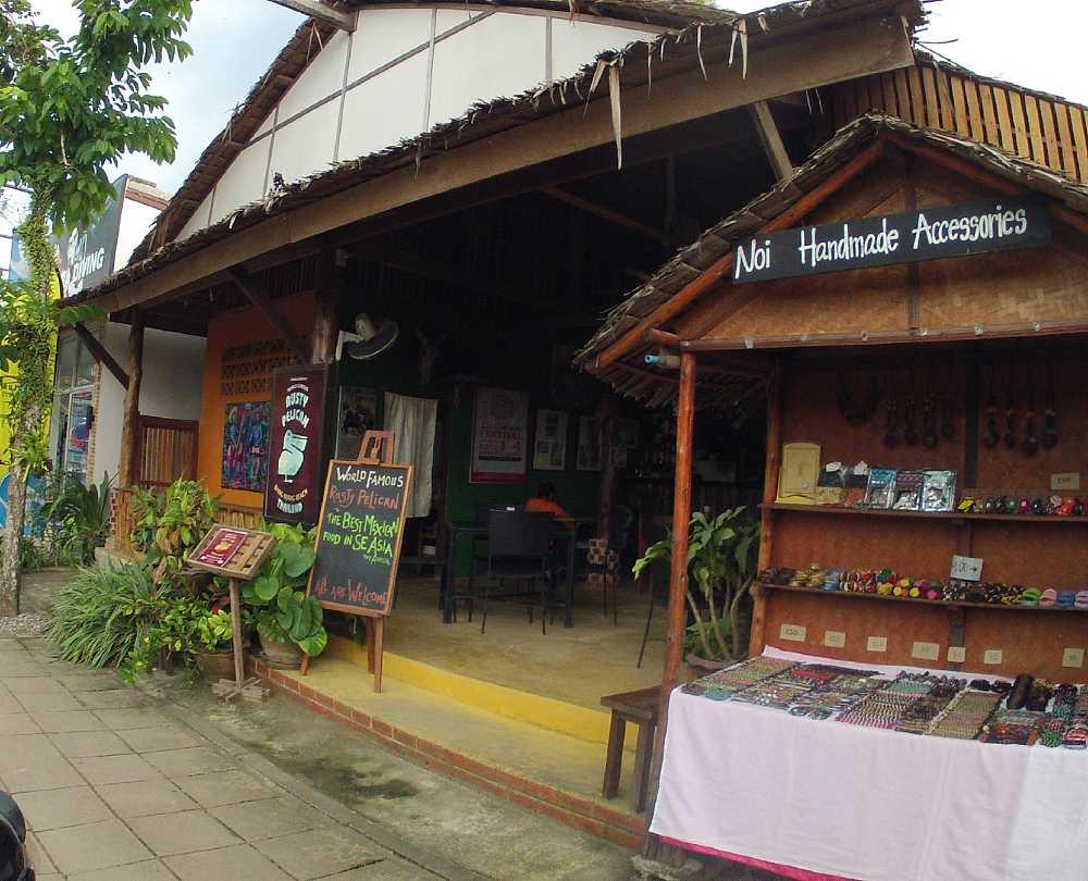 outside restaurant Rusty Pelican
