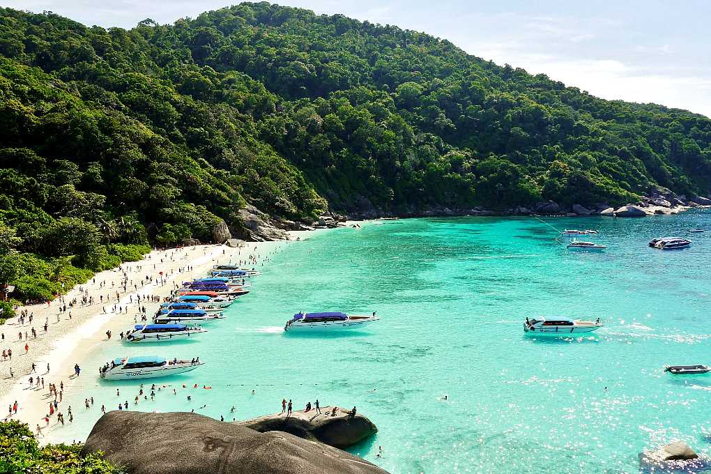 To the Similan islands, crystal clear sea and white beaches.