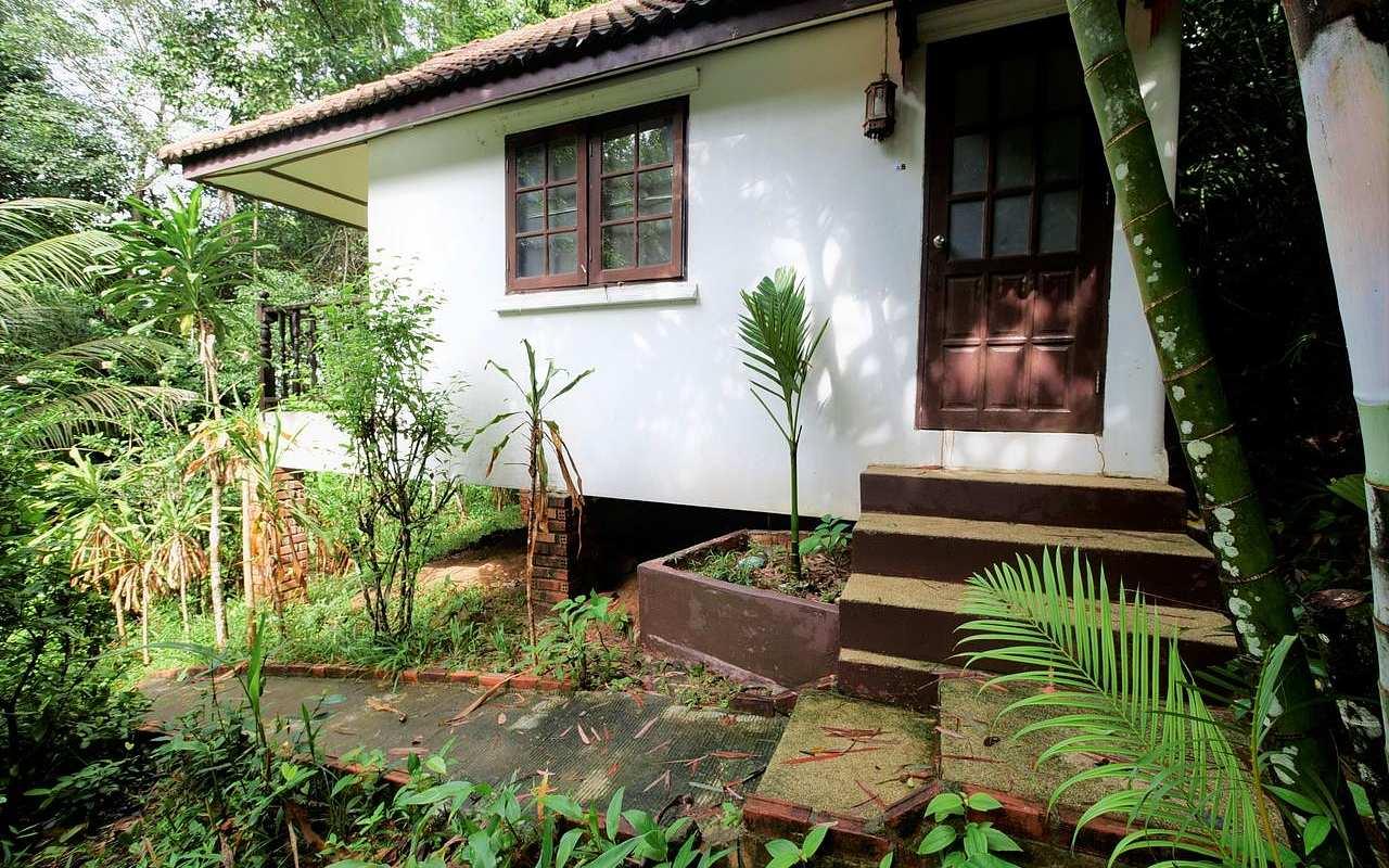 Kleine bungalow tussen de bomen