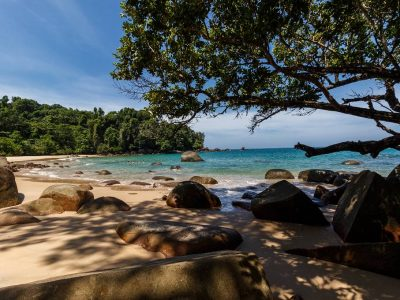 Khao Lak Lam Ru National Park, Beautiful Small White Beach In The Park