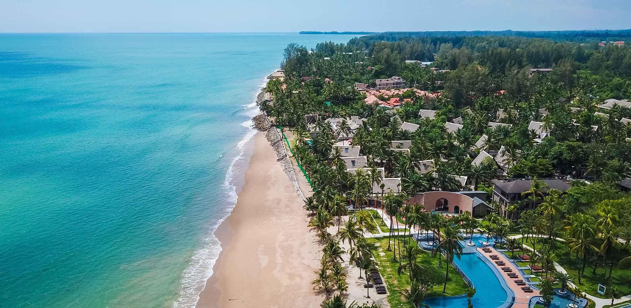 Bang Niang Beach from the air
