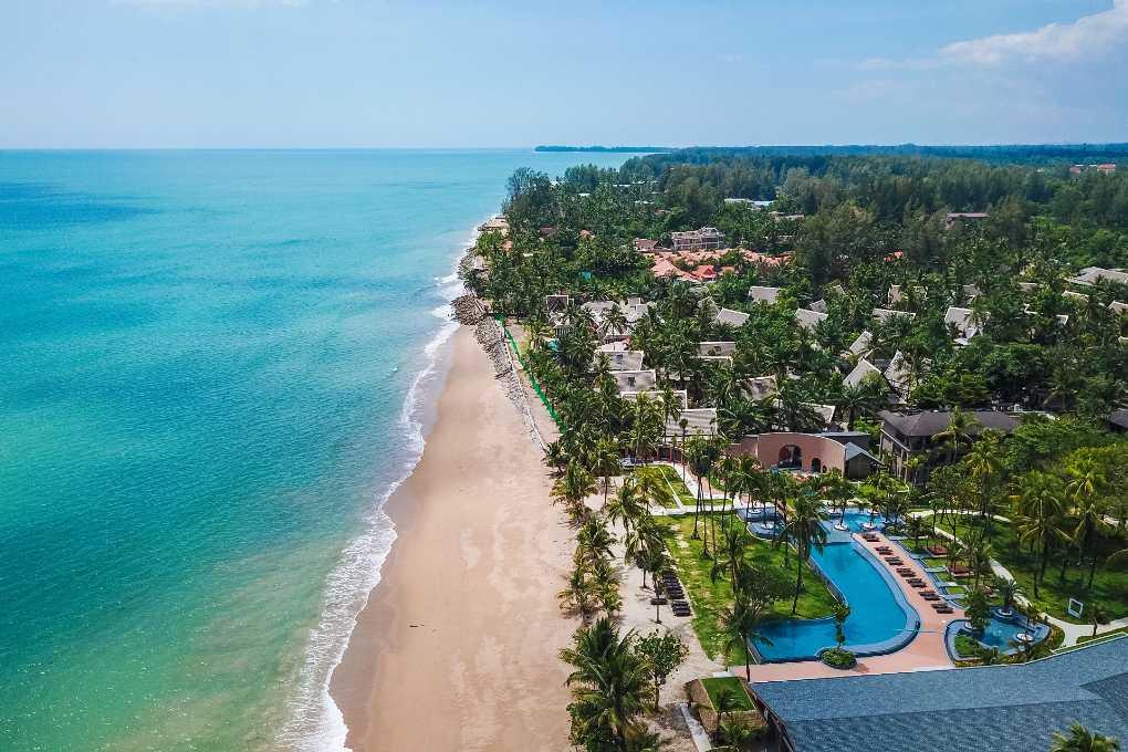 Khao Lak Beach from the air