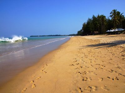 Waves And Golden Sand At Khuk Khak Beach