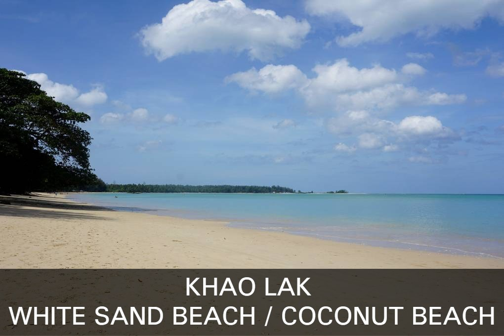 Lees hier alles over het strand White Sand Beach en Coconut Beach in Khao Lak