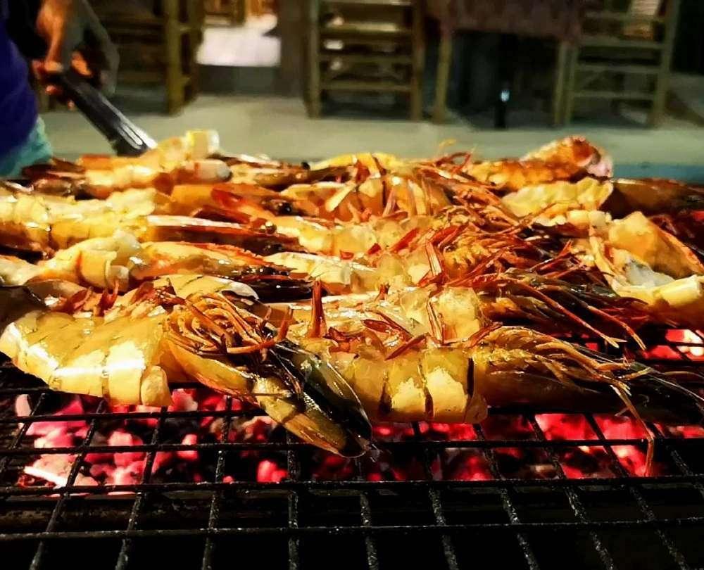 Shrimp from the Grill at Na Suang Restaurant in Bang Niang, Khao Lak