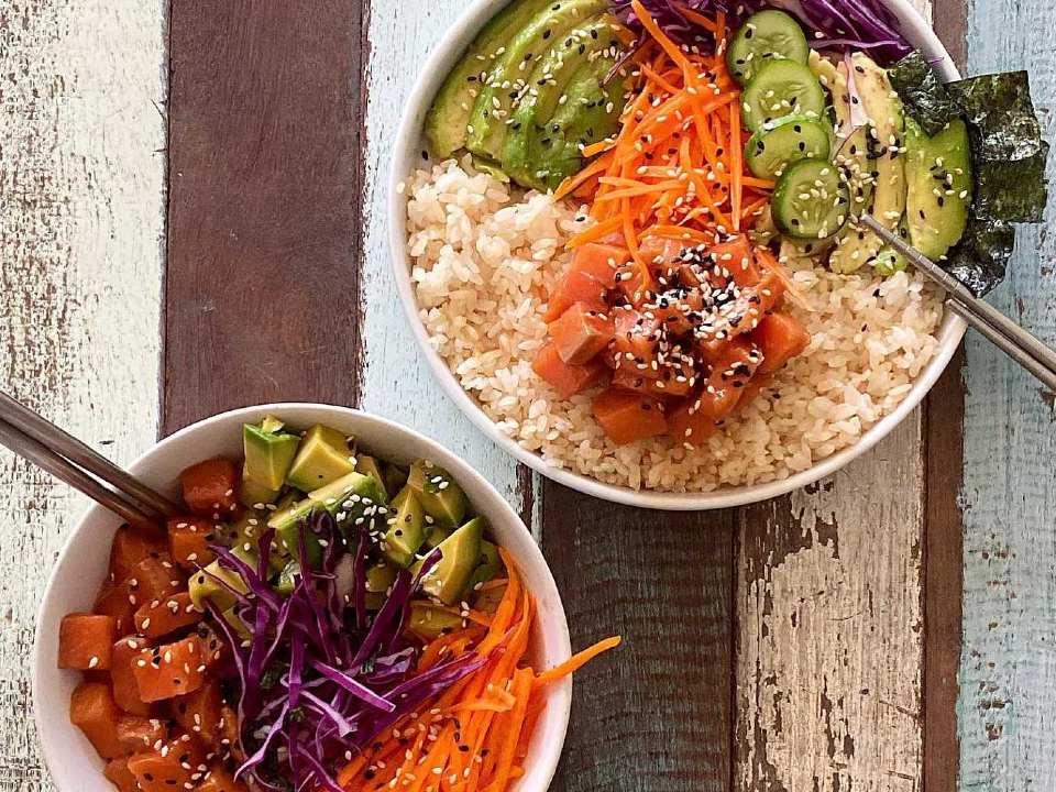 mooi opgemaakte vegetarische salades