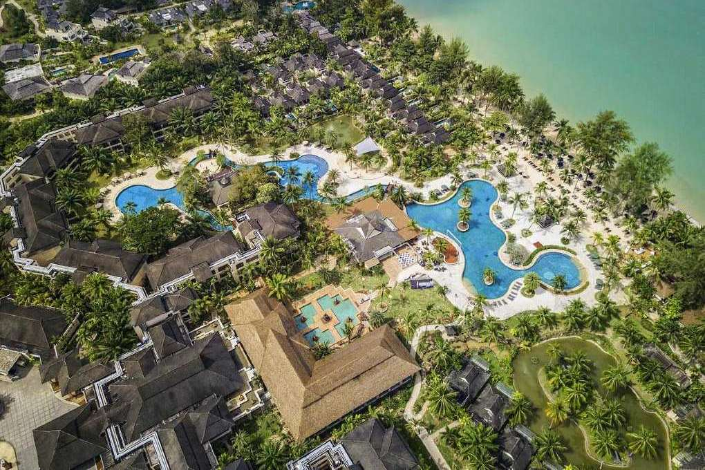 Photo taken from the air from the Robinson Club Khao Lak
