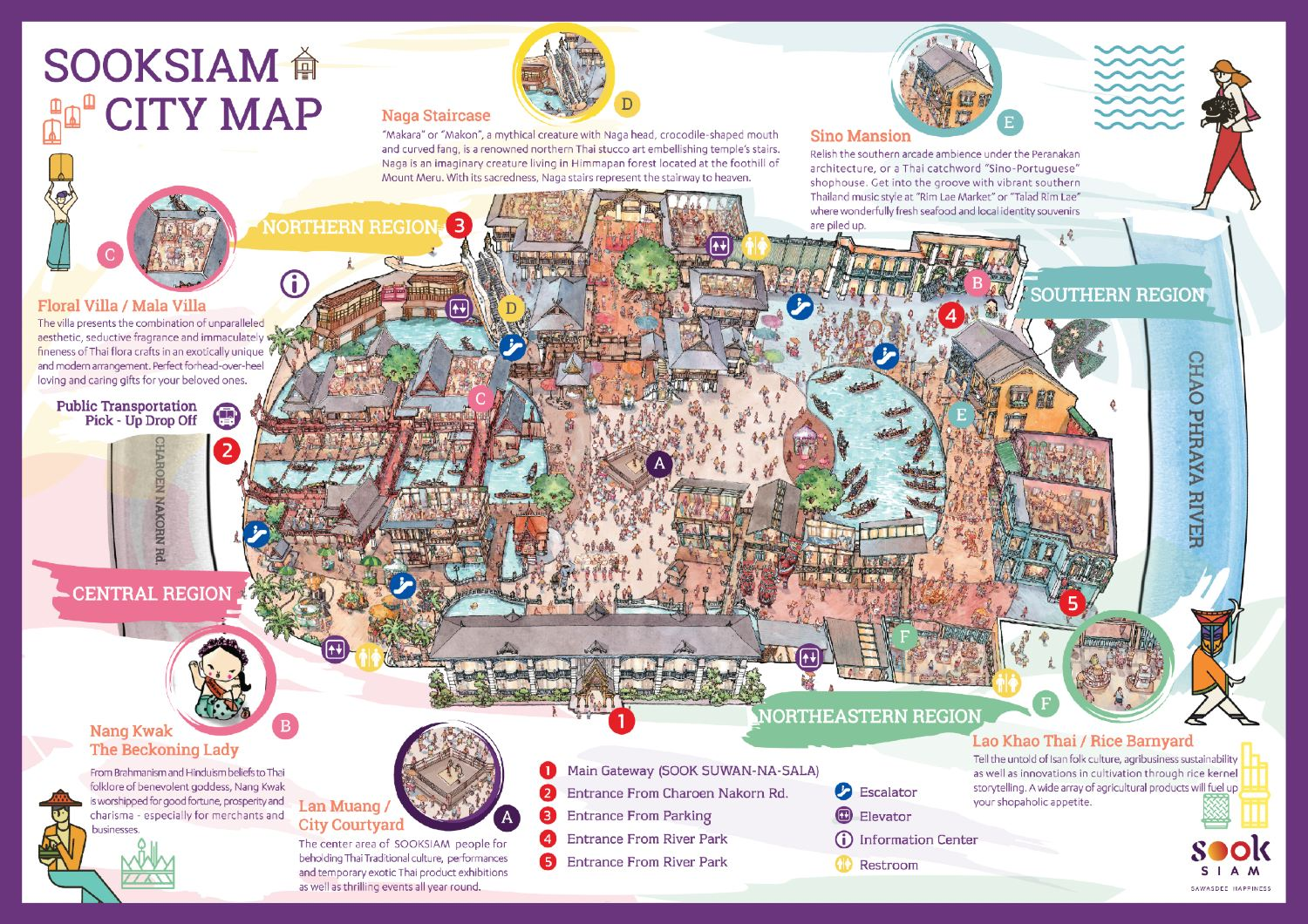 The map of SOOKSIAM in ICONSIAM, Bangkok Thailand