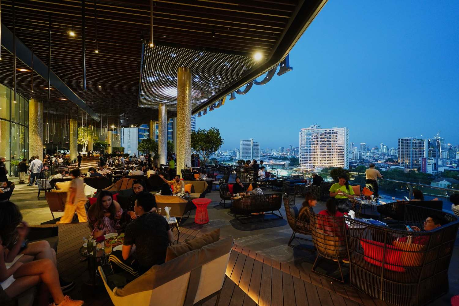 The Tasana Nakorn terrace on the sixth floor of ICONSIAM in Bangkok
