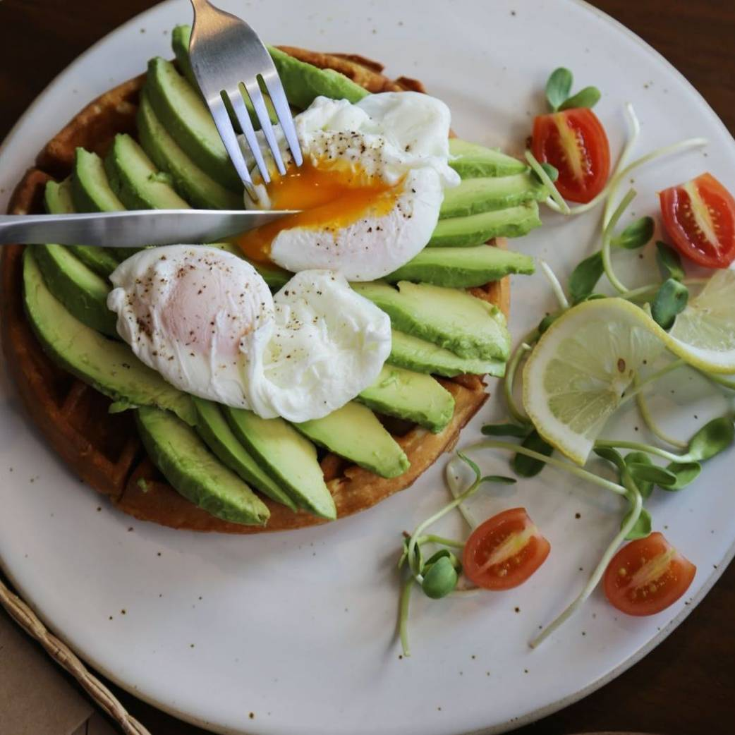 Avocado and poached egg on toast at The Eight Room by Mata Cafe in Khao Lak