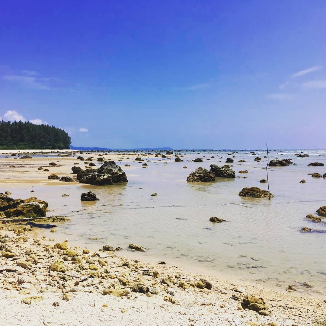Pakarang Cape in Khao Lak during low tide