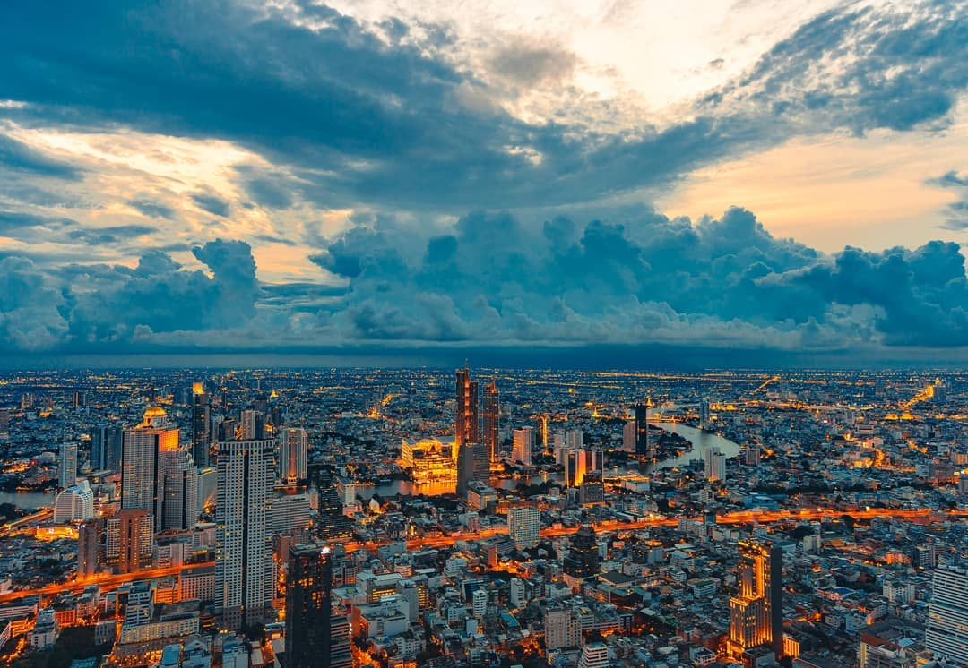 View from the King Power Mahanakhon building in Bangkok, Thailand