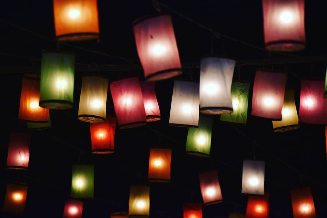 Colored Lanterns Yee Peng Festival 2020 in Chiang Mai