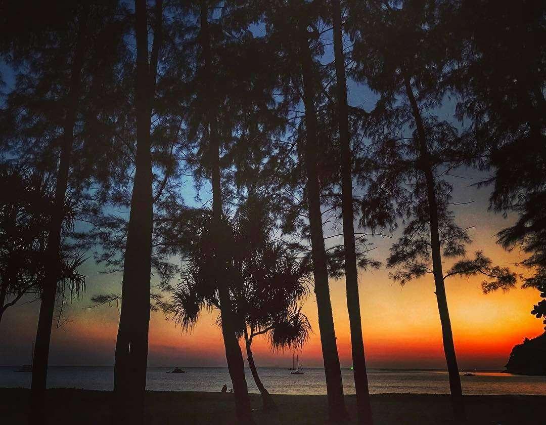 Twilight over Nai Yang Beach in the Sirinat National Park on Phuket