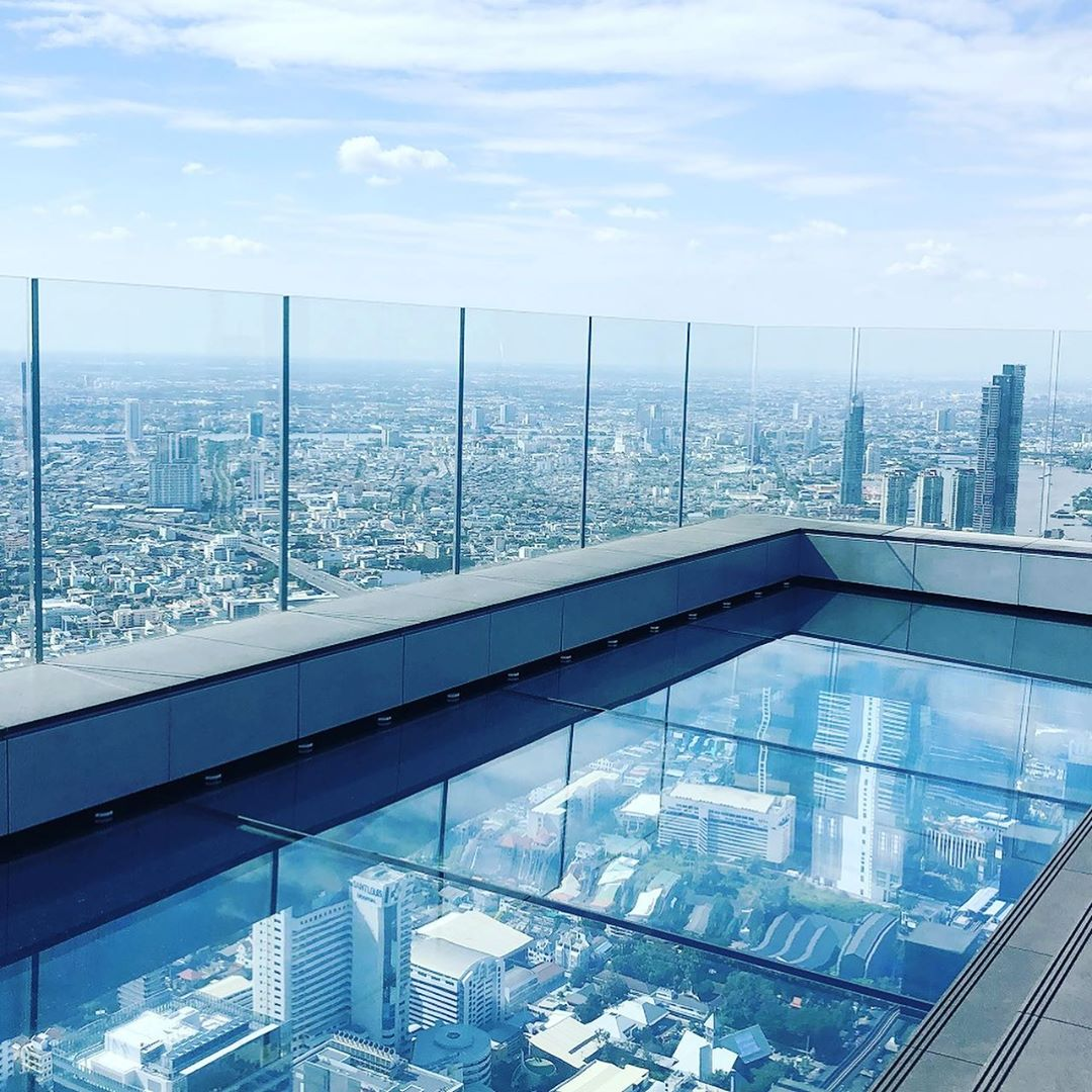 The SkyWalk of the King power Mahanakhon building in Bangkok