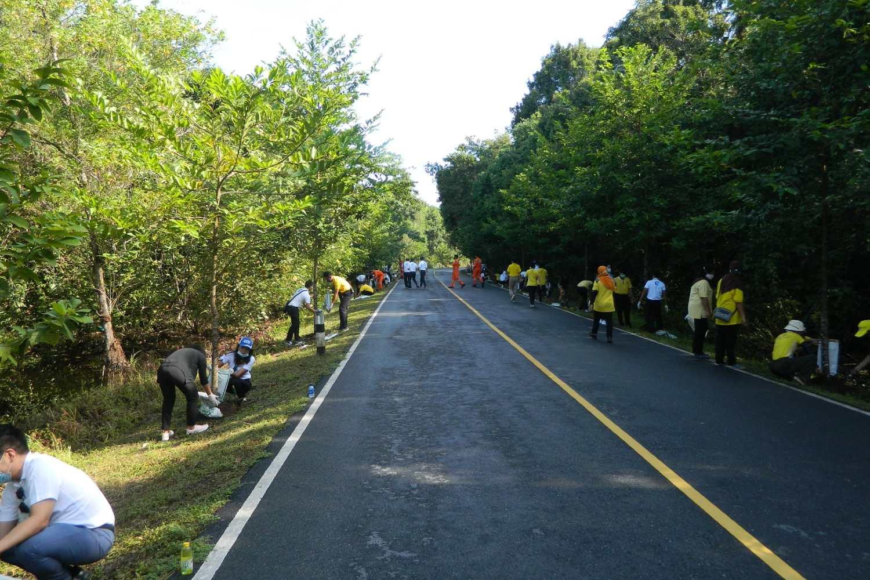 Asphalted road leading through the Sirinat National Park