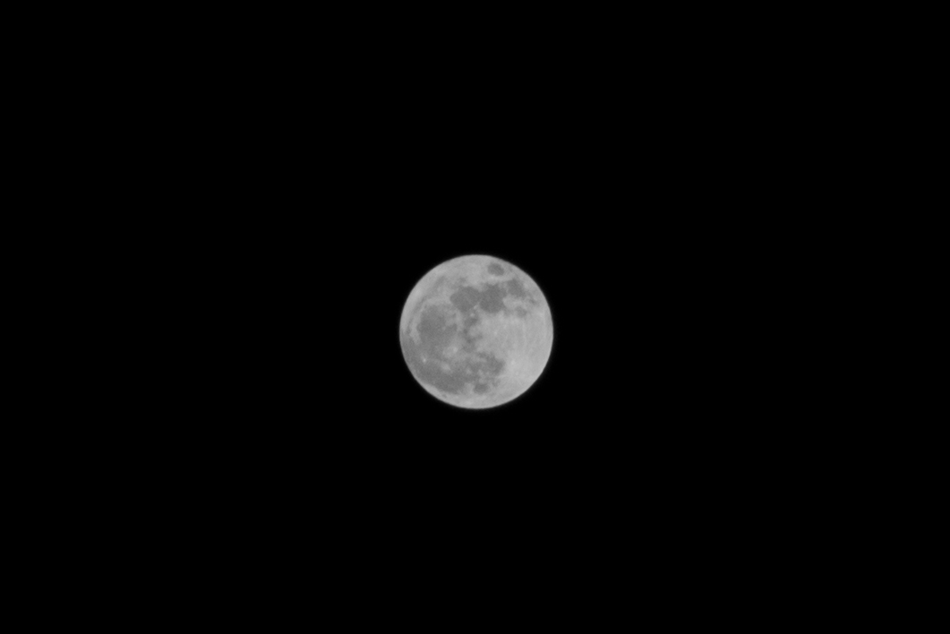Full moon during Loy Krathong 2020 in Thailand