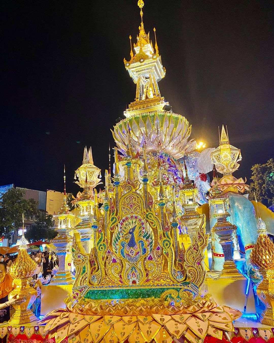 Yee Peng Festival 2020 in Chiang Mai, Thailand