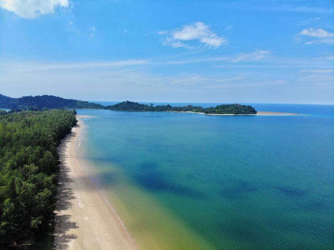 Aerial photo of Bang Niang Beach on Khao Lak