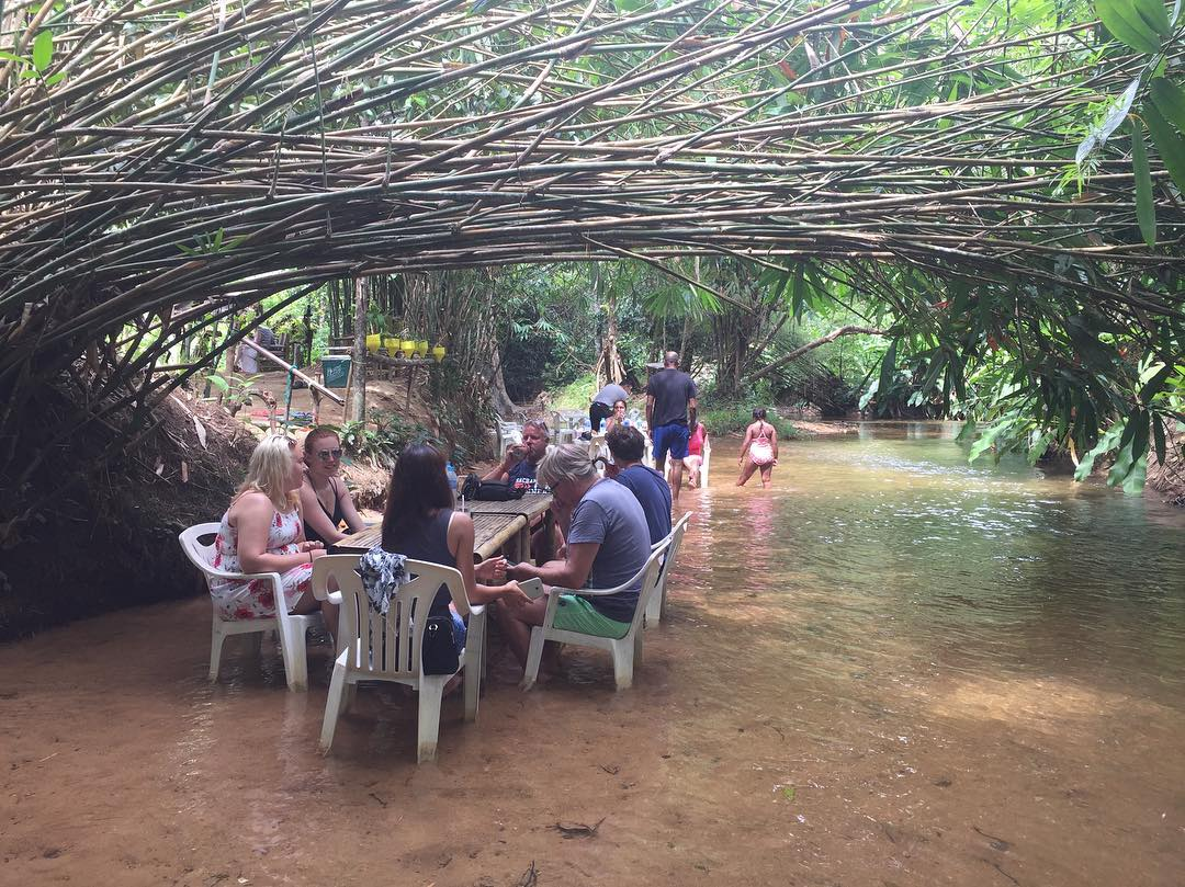 Klong Koo Restaurant in Khao Lak, dine with your feet in the water