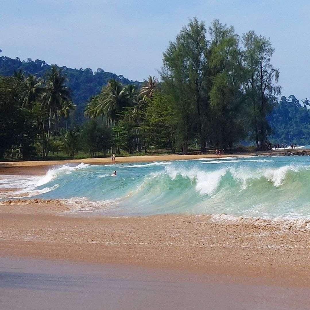 High waves at Khuk Khak Beach in Khao Lak